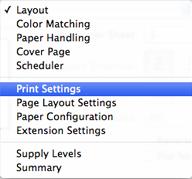 Velg Print Settings